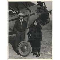 1935 Press Photo Dr Loreyta Mann Hammond Celebrated 93rd Birthday with Flight