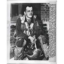 1953 Press Photo Capt. Manuel Fernandez, World's :Leading Jet Ace - nef65167