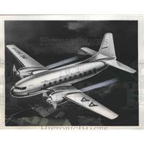 1945 Press Photo American Airline Twin Engine and Jet Propulsion Airplane