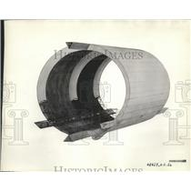 """1930 Press Photo Section of ZRS-4 """"The Akron"""" - nef65687"""