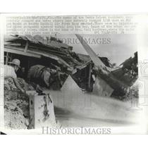 1966 Press Photo Home of 2 Davis Island Residents Damaged When F4C Jet Crashed