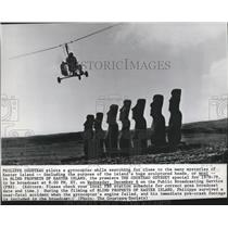 1978 Press Photo Philippe Cousteau pilots a gyrocopter searching for clues