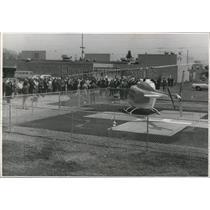 1970 Press Photo Valley General Hospital, helistop dedication - spa49749