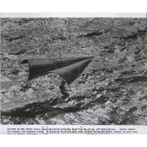 1974 Press Photo Steve Rodriguez sails above Pacific Ocean off Point Permin.