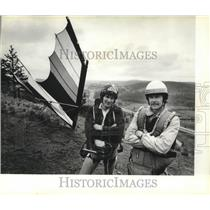 1980 Press Photo Gliders Dan Allan and Jade Halcomb - spa52492