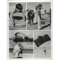 1981 Press Photo Skydiving - Handicap pad - spa55632
