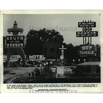 "1979 Press Photo South of the Border's ""Pedro"" Neon Sign - mja60506"