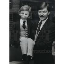 1987 Press Photo Chip Martin, puppet, with Dale L. Brown, ventriloquist