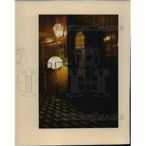 1913 Press Photo Original Clock in Hotel Wisconsin Lobby - mja56555