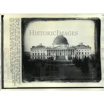 1846 Press Photo Earliest Known Photograph of The United States Capitol