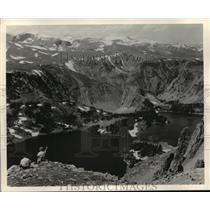 1982 Press Photo The Beartooth Mountains Between Red lodge, Mt and Yellowstone