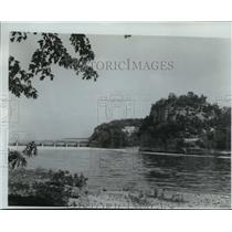 1987 Press Photo Starved Rock State Park on Illinois River, historic- Illinois