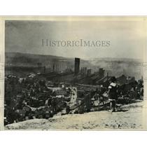1934 Press Photo Smoking Carnegie Steel Plants During Homestead Steel Strike