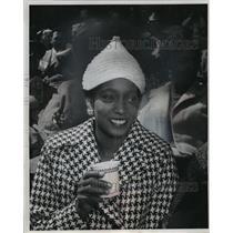 1966 Press Photo Mrs. Henry Aaron Watches The Season Opener - mja60363