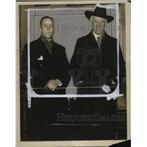 1929 Press Photo Hans Glad-Blook, Norwegian Consul, Dr. Friedtjop Nansen