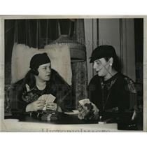 1933 Press Photo Elinor Murdock, Mrs Robert Fuller at Ritz Carlton Bridge Game