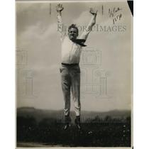 1921 Press Photo Jim Scott, Male Cheerleader for University of Pittsburgh
