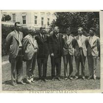 1930 Press Photo Champions in Cotton and Corn growing with Pres.Herbert Hoover