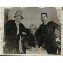1928 Press Photo Actress Margaret Mann, Ferdinand & Madame Schumann-Heink