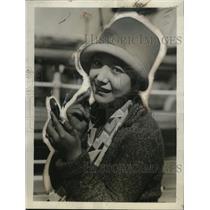 1927 Press Photo Komaka Sunada, Japanese Actress - neo03583