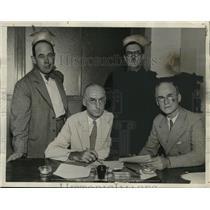 1933 Press Photo Propaganda Campaign Leaders Louis Alber, Charles Horner, etc.
