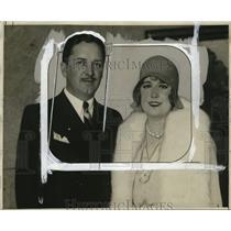 1929 Press Photo Bryant Washburn & Wife Virginia Vause - neo06197
