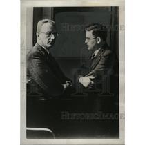 1938 Press Photo Dr. Arthur Seyss-Inquart, Prof. Dardiu deal with Nazis