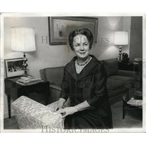 1968 Press Photo Mrs. Eugene McCarthy at Home - neo06025