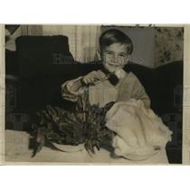 1933 Press Photo Raymond Wilkinson, Boy Who Swallowed Pocket Knife, Los Angeles