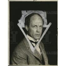 1918 Press Photo Edmund Vance Cook, Author - neo06678