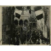 1922 Press Photo Fascisti Demonstrations in Milan, Italy - nep04234