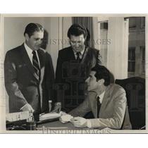 1970 Press Photo Italian Consul Filippo Anfuso with Peter Cowpagno & Frank Uddo