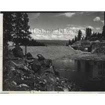 1953 Press Photo Cascade Dam, on the North Fork of the Payette River, Idaho