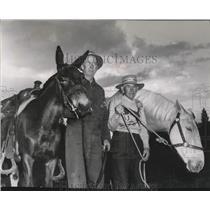 1956 Press Photo Gentlemen on Horseback - spa46153