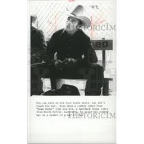 1979 Press Photo Jim Dix, bareback bronc rider from North Collie, Australia