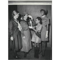 1969 Press Photo A fashion parade, Girl Scout uniforms from past to the present.