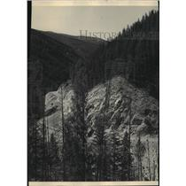 1947 Press Photo Lost Trail Pass, Bitterroot Montana, Idaho - spa51604