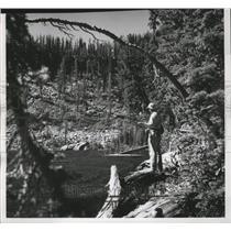 1960 Press Photo Roman Nose Lake in Idaho - spa51894