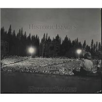 1967 Press Photo Girl Scout Roundup at Farragut State Park, North Idaho