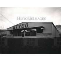 1963 Press Photo Bitco Inc. new office-warehouse building at Osburn, Idaho