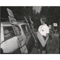 1985 Press Photo Girl Scout Round Up at Camp Farragut, Idaho. - spa52196