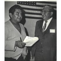 1970 Press Photo Indian Couer d'Alene Tribal chairman LaSarte & counselor SiJohn
