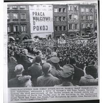 1964 Press Photo Josef Cyrankiewicz/Poland/Germany WWII - RRV11997