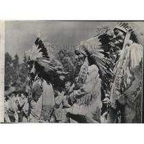 1948 Press Photo Blackfeet Indians - spa56134