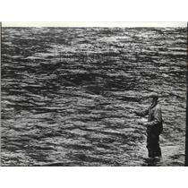 1983 Press Photo Todd Palmer at Coeur d'Alene River - spa43522