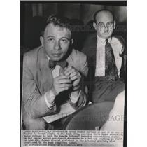 1953 Press Photo Julius Joseph in Senate Internal Security Subcommittee hearing