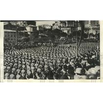 1935 Press Photo Italian Soldiers parade in celebration of their King's birthday