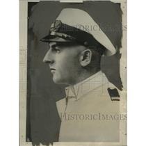 1928 Press Photo Captain Romar, Crossing Atlantic Ocean in Folding Boat