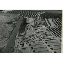 1935 Press Photo Aerial view of Santa Anita Race Track - spa76199