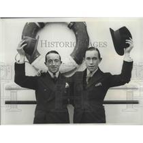 1933 Press Photo Sam Wragg and brother Arthur, Well known English Jockeys